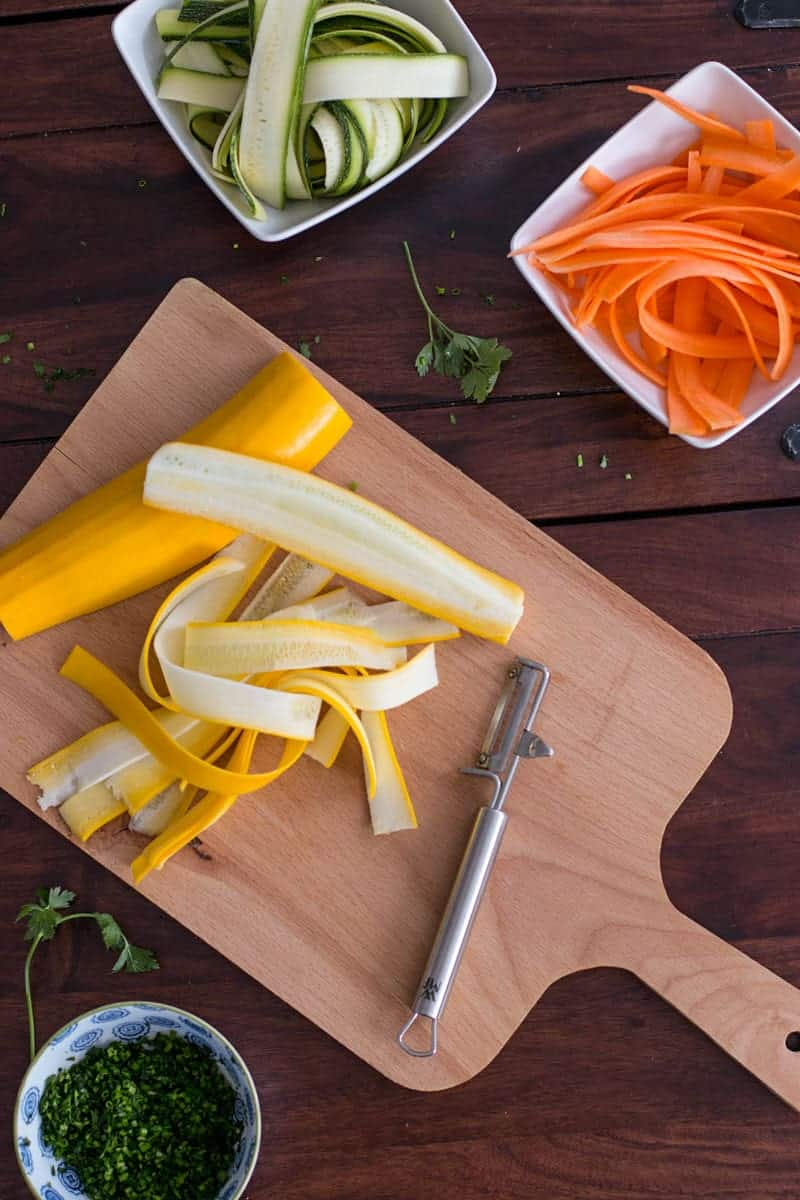 Fettuccine with Lemon Ricotta and Zucchini | savorynothings.com