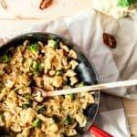 Pasta with Broccoli and Cauliflower {low fat & vegan}