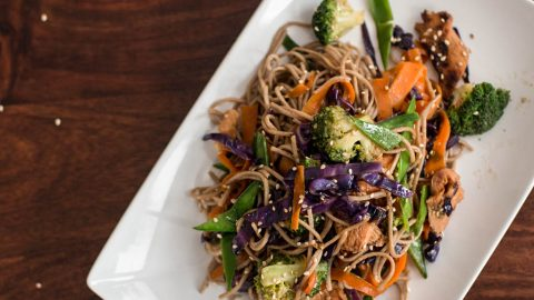 Soba noodles with honey soy chicken savory nothings forumfinder Gallery