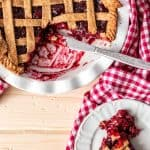 Vegan Cherry Pie Recipe{made from all healthy ingredients!} - There's no butter or refined sugar in this recipe - so you can have your pie and eat it too!