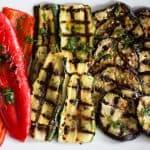 Lemon Herb Marinated Grilled Vegetables