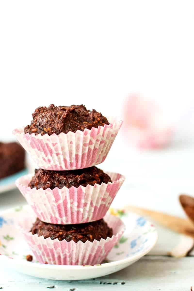 Chocolate Zucchini Coconut Muffins {vegan & refined sugar free}