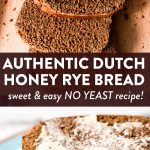 photo collage of dutch honey cake with text overlay
