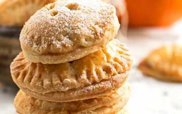 stack of pumpkin pie cookies