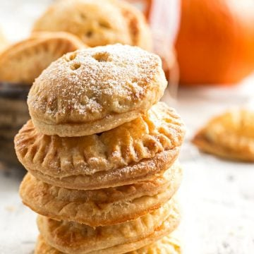 stack of pumpkin pie cookies