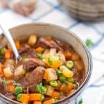 This Simple Beef Stew is a delicious and hearty comfort dinner perfect for the colder months! Very little hands-on time!