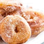 Are you looking for the best apple fritter recipe? You should give this easy homemade version a try. The apple rings are fried and then dipped into cinnamon sugar - fall perfection!