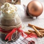 frontal view of gingerbread hot chocolate