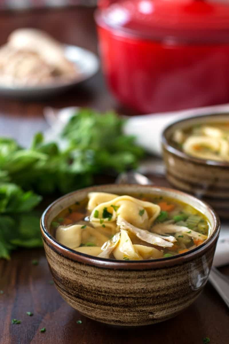 This Chicken Noodle Soup Is Extra Special Because It Uses Tortellini Instead Of Plain Old Egg