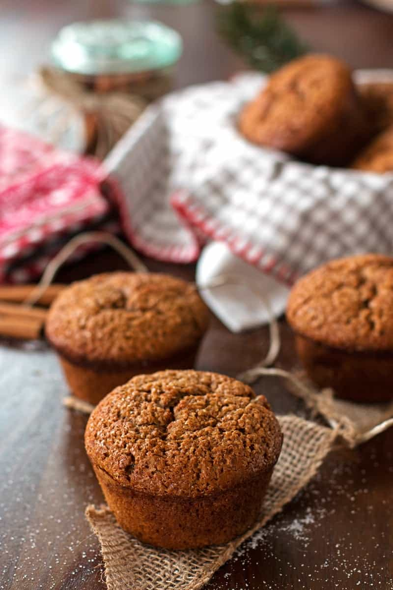 Healthy Triple Ginger Gingerbread Muffins Savory Nothings