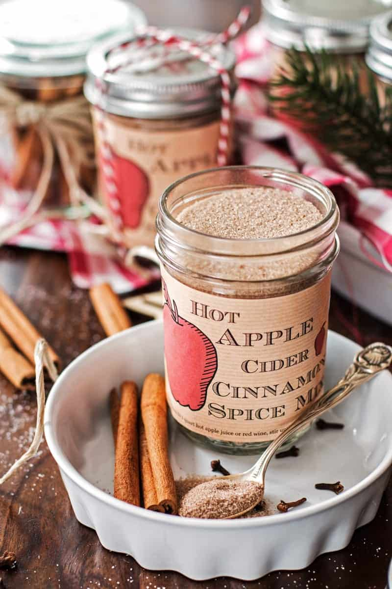 Hot apple cider cinnamon spice mix free printable for Food gifts to make for christmas presents