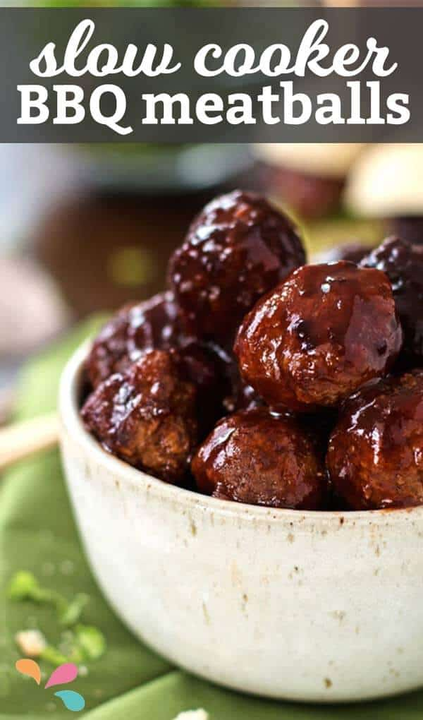 Everyone loved these slow cooker BBQ meatballs as an appetizer at our last party! If you're looking to impress your guests - try this easy crockpot recipe!