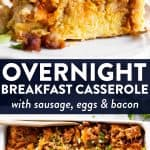 Overnight Sausage Breakfast Casserole with Sausage Pin 1
