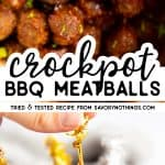 Slow Cooker BBQ Meatballs Image Pin