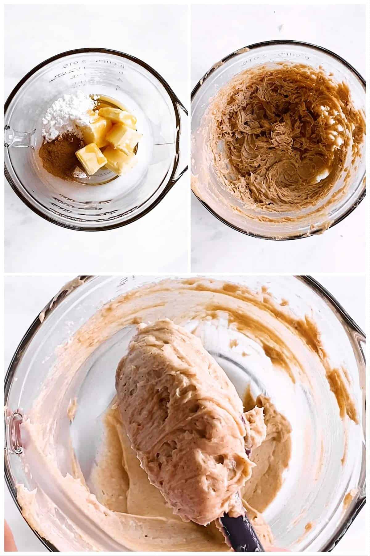 photo collage to show making of honey butter