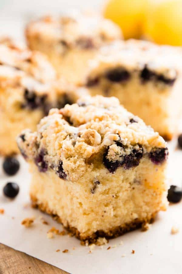 Lemon Blueberry Sour Cream Coffee Cake With Cake Mix