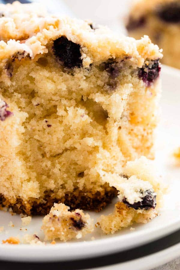 Lemon Blueberry Sour Cream Coffee Cake {with Cake Mix}