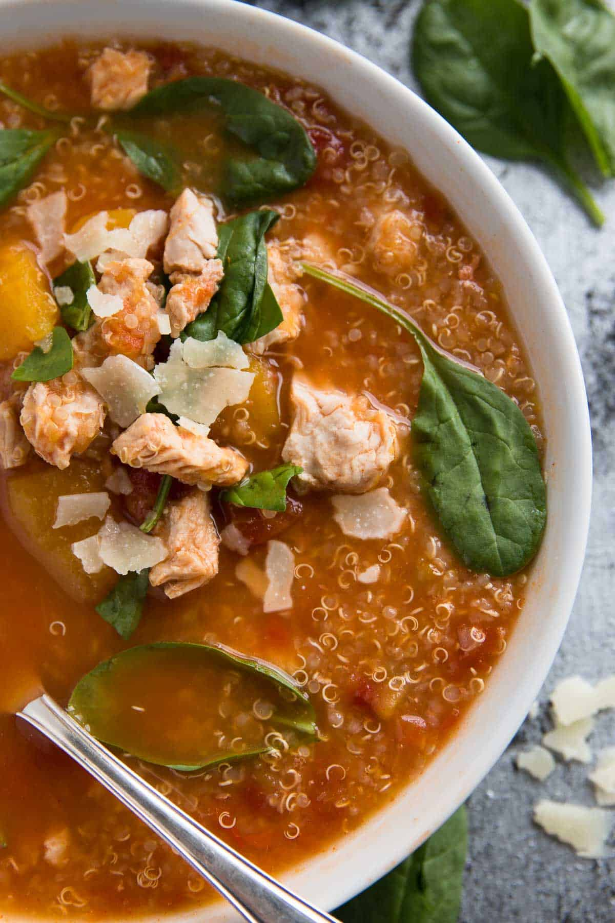 This Healthy And Kidfriendly Turkey, Pumpkin And Quinoa Slow Cooker Soup  Is An