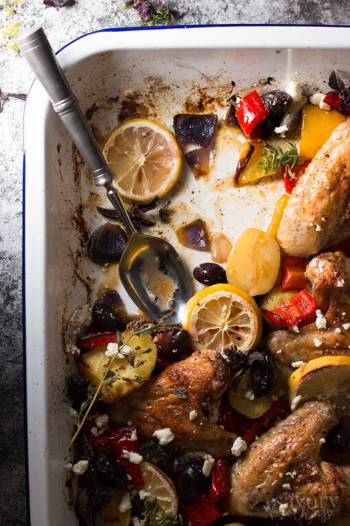 Easy Baked Chicken Dinner Greek Lemon Chicken With Veggies