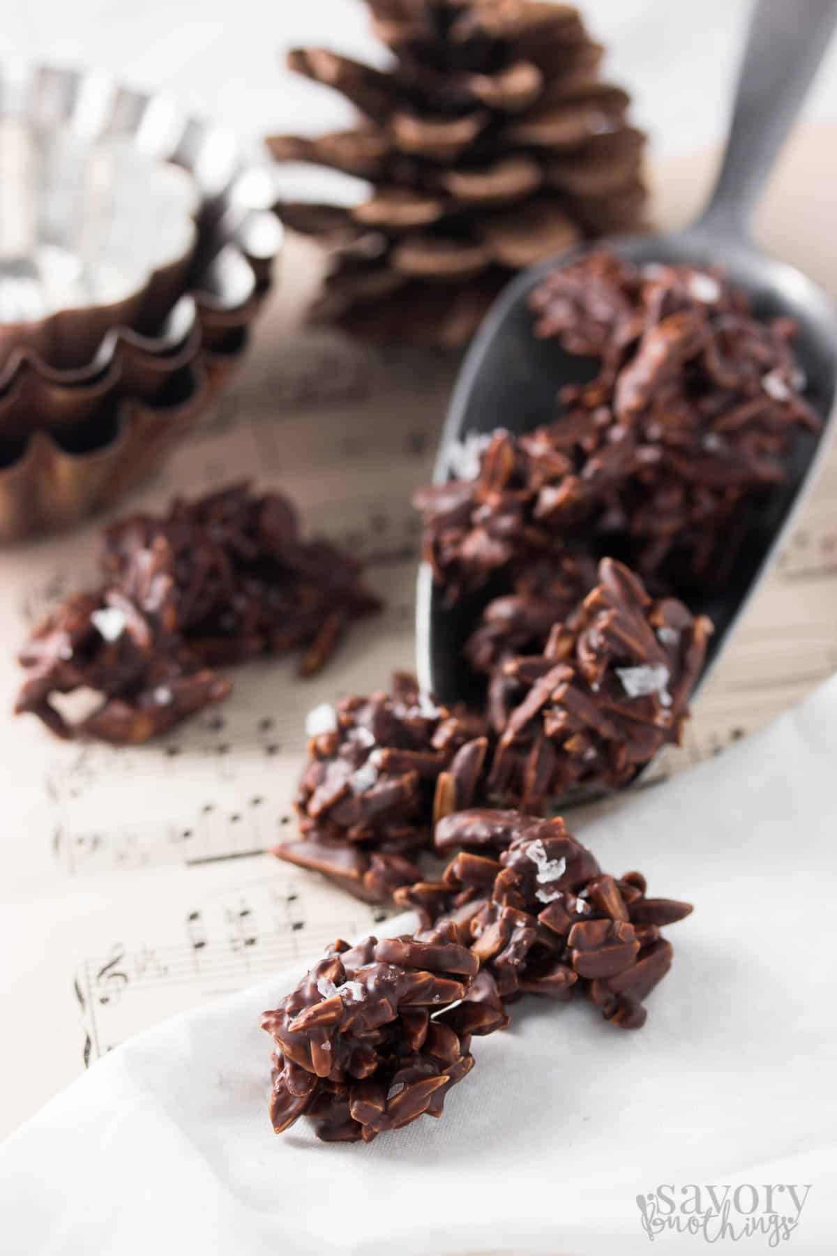 Orange and Sea Salt Dark Chocolate Covered Almonds | Savory Nothings