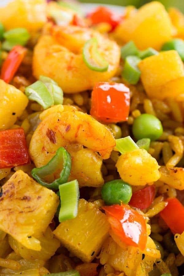 Homemade Shrimp Fried Rice With Pineapple 30 Minute Dinner Recipe
