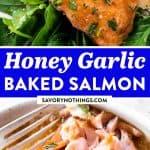 Honey Garlic Salmon Baked in Foil Image Pin