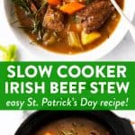 Slow Cooker Irish Beef Stew Image Pin