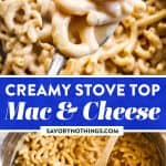 Stovetop Mac and Cheese Image Pin