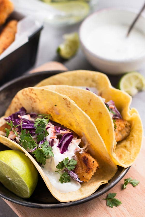 Fried fish tacos with slaw for Slaw recipe for fish tacos