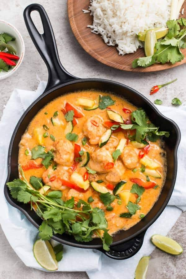 Quick Thai Shrimp Curry With Pineapple