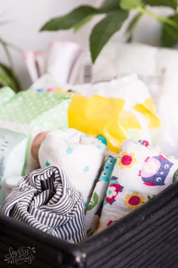 3 Simple Hacks To Prepare For A Newborn Baby: Prepare a few changing baskets to stash around your home.