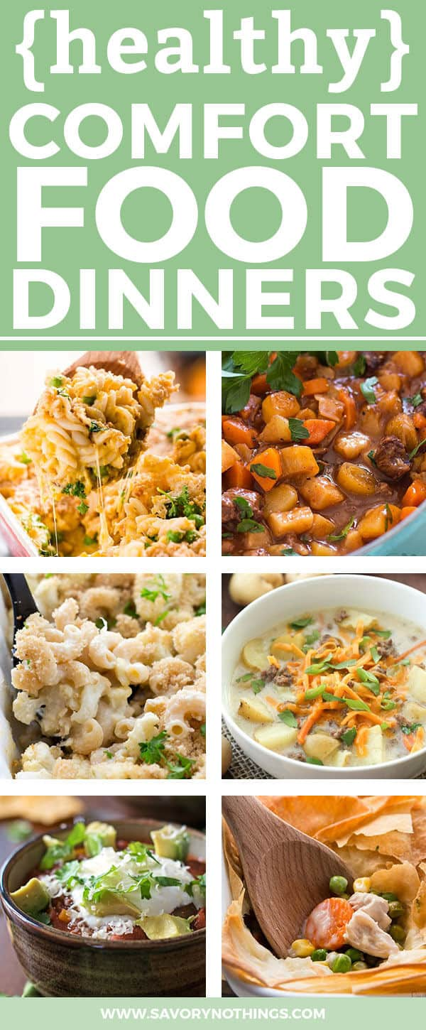 Your family goes crazy for classic but definitely not healthy comfort food dinners. All the while you're trying to make everyone eat as healthy as possible. Think there's no solution to that problem? Well, my friend. Think again! There are so many easy and delicious recipes everyone will love. This list features slow cooker recipes, quick prep casseroles, yummy chicken recipes and cozy soups - all with a healthy twist! Trust me - your family will be eating clean without even knowing ;)
