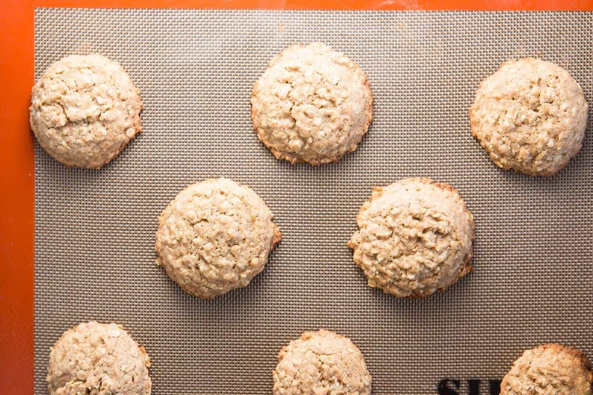 oatmeal cookies fresh out of the oven
