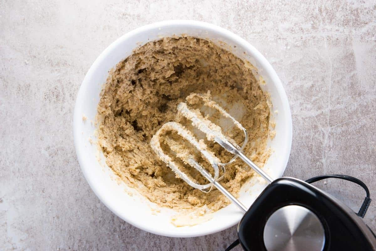 creamed sugar and butter for oatmeal cookies