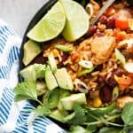 One Pot Chicken Burrito Bowls