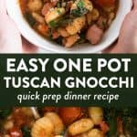photo collage of tuscan gnocchi