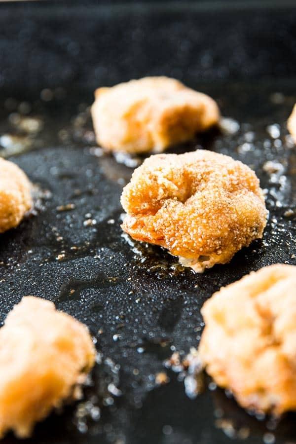 close up photo of crispy baked shrimp