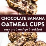 photo collage of oatmeal cups