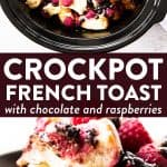 photo collage of crockpot French toast