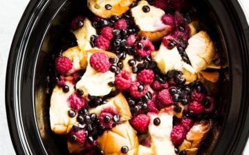 black crock with French toast
