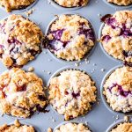 This recipe for blueberry muffins achieves a nice dome by filling the cups very high and starting with a high oven temperature. They turn out absolutely scrumptious!