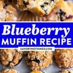 Blueberry Muffins Image Pin