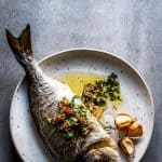 This Baked Whole Fish Recipe is an Easy Mediterranean Weeknight Dinner