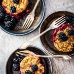 Blackberry Cobbler Baked Oatmeal Cups