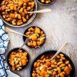 Pineapple BBQ Crock Pot Baked Beans