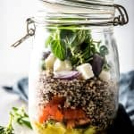 Mason Jar Greek Quinoa Salad