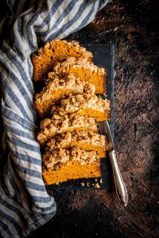 Cinnamon Pecan Streusel Pumpkin Bread