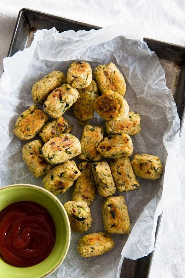 Mashed Potato and Zucchini Homemade Tater Tots