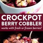 berry cobbler photo collage