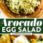 Avocado Egg Salad Image Pin